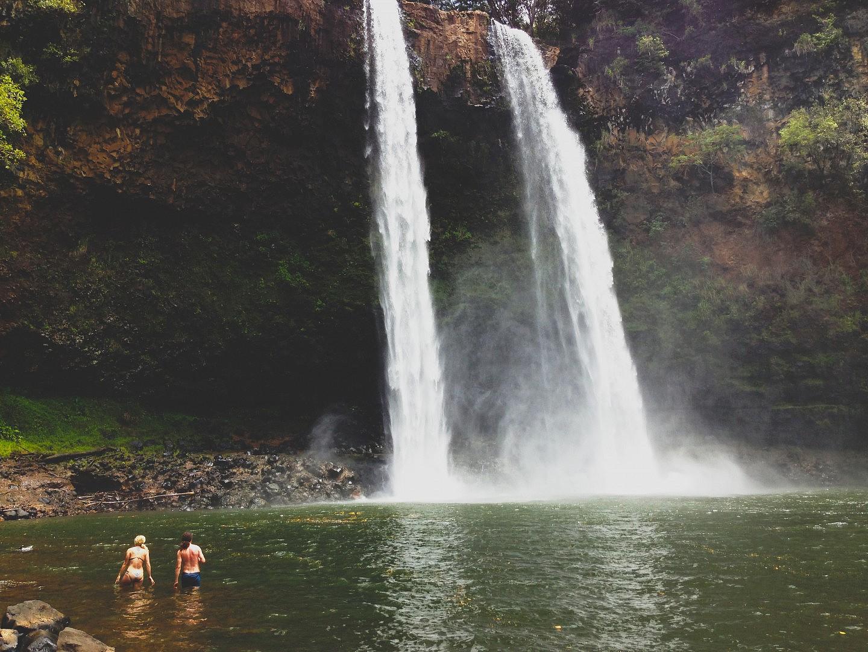 Summer Vacation Waterfall